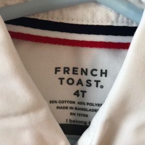 French Toast Shirts & Tops - Toddler boy white button down